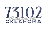 Oklahoma City, Oklahoma - 73102 Zip Code (Blue) Posters by  Lantern Press