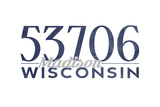Madison, Wisconsin - 53706 Zip Code (Blue) Prints by  Lantern Press