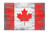 Canada Country Flag - Barnwood Painting Poster by  Lantern Press