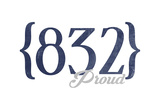 Houston, Texas - 832 Area Code (Blue) Prints by  Lantern Press