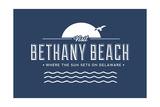 Visit Bethany Beach - Where the Sun Sets on Delaware Prints by  Lantern Press