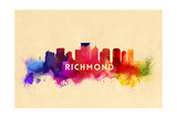 Richmond, Virginia - Skyline Abstract Poster by  Lantern Press