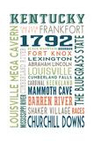 Kentucky - Typography Prints by  Lantern Press