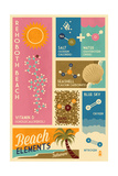 Rehoboth Beach, Delaware - Chemical Beach Elements Prints by  Lantern Press