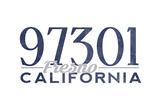 Fresno, California - 97301 Zip Code (Blue) Poster by  Lantern Press