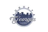 Augusta, Georgia - Skyline Seal (Blue) Posters by  Lantern Press