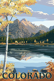 Colorado - Longs Peak and Bear Lake Fall Poster by  Lantern Press