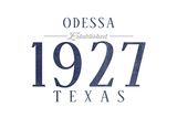 Odessa, Texas - Established Date (Blue) Prints by  Lantern Press
