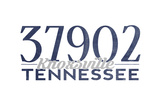 Knoxville, Tennessee - 37902 Zip Code (Blue) Art by  Lantern Press