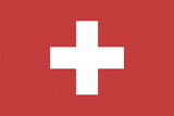 Switzerland Country Flag - Letterpress Prints by  Lantern Press