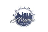 Phoenix, Arizona - Skyline Seal (Blue) Prints by  Lantern Press