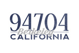 Berkeley, California - 94704 Zip Code (Blue) Posters by  Lantern Press