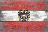 Austria Country Flag - Barnwood Painting Posters by  Lantern Press