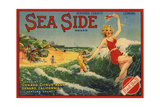 Sea Side Brand - Oxnard, California - Citrus Crate Label Posters by  Lantern Press