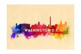 Washington, DC - Skyline Abstract Posters by  Lantern Press
