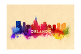 Orlando, Florida - Skyline Abstract Posters by  Lantern Press