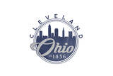 Cleveland, Ohio - Skyline Seal (Blue) Prints by  Lantern Press