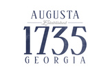 Augusta, Georgia - Established Date (Blue) Prints by  Lantern Press