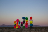 Ugo Rondinone: Seven Magic Mountains, Las Vegas Nevada, 2016 (Official Authorized Print) Photographic Print