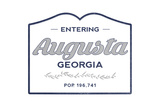 Augusta, Georgia - Now Entering (Blue) Art by  Lantern Press