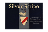Silver Stripe Brand - Sespe, California - Citrus Crate Label Prints by  Lantern Press