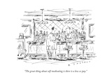"""The great thing about self-medicating is there is a low co-pay."" - New Yorker Cartoon Premium Giclee Print by Barbara Smaller"
