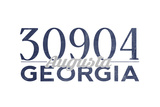 Augusta, Georgia - 30904 Zip Code (Blue) Posters by  Lantern Press