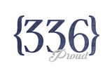 Greensboro, North Carolina - 336 Area Code (Blue) Print by  Lantern Press