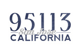 San Jose, California - 95113 Zip Code (Blue) Prints by  Lantern Press