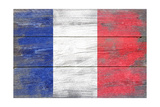 France Country Flag - Barnwood Painting Posters by  Lantern Press
