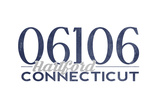 Hartford, Connecticut - 06106 Zip Code (Blue) Prints by  Lantern Press