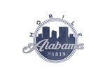Mobile, Alabama - Skyline Seal (Blue) Posters by  Lantern Press