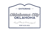 Oklahoma City, Oklahoma - Now Entering (Blue) Art by  Lantern Press