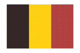 Belgium Country Flag - Letterpress Prints by  Lantern Press