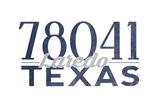 Laredo, Texas - 78041 Zip Code (Blue) Prints by  Lantern Press