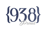 Huntsville, Alabama - 938 Area Code (Blue) Prints by  Lantern Press