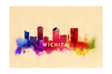 Wichita, Kansas - Skyline Abstract Prints by  Lantern Press