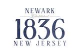 Newark, New Jersey - Established Date (Blue) Posters by  Lantern Press