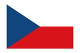 Czech Republic Country Flag - Letterpress Prints by  Lantern Press
