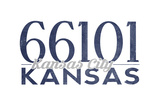 Kansas City, Kansas - 66101 Zip Code (Blue) Prints by  Lantern Press
