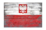 Poland Country Flag - Barnwood Painting Poster by  Lantern Press