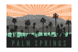 Palm Springs, California - Palm Trees and Mountains Posters by  Lantern Press