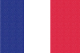 France Country Flag - Letterpress Prints by  Lantern Press
