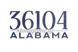 Montgomery, Alabama - 36104 Zip Code (Blue) Posters by  Lantern Press