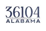 Montgomery, Alabama - 36104 Zip Code (Blue) Posters by  Lantern Press