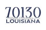 New Orleans, Louisiana - 70130 Zip Code (Blue) Prints by  Lantern Press