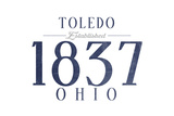 Toledo, Ohio - Established Date (Blue) Prints by  Lantern Press