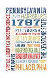 Pennsylvania - Typography Art by  Lantern Press