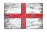 England Country Flag - Barnwood Painting Premium Giclee Print by  Lantern Press
