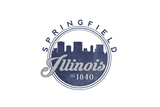 Springfield, Illinois - Skyline Seal (Blue) Prints by  Lantern Press